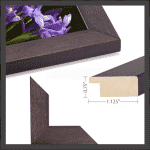 Charcoal Wood Frame