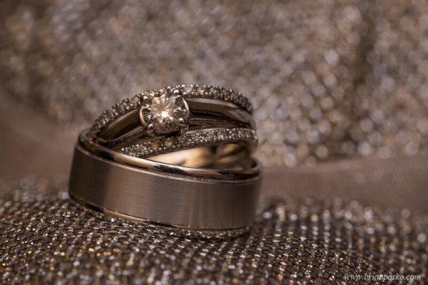 Wedding rings on bride's shoe at the Heisen House Vineyard in Battle Ground Washington.