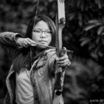 Mountainside-High-School-Senior-Girl-Archery-Black-and-White
