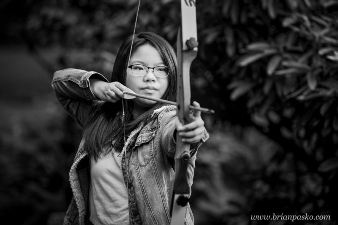 Mountainside-High-School-Senior-Girl-Archery-Black-and-White