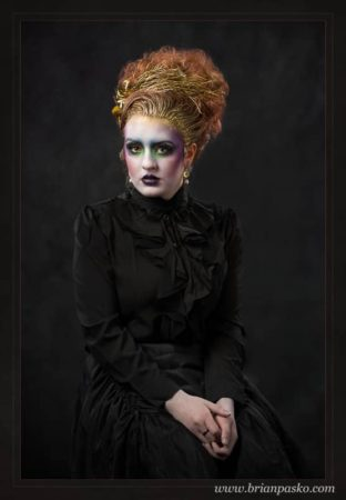 Fine-Art-Portrait-Creative-Gothic-Victorian Makeup